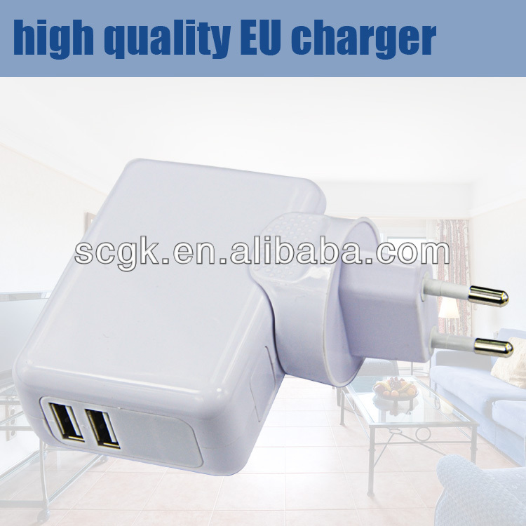 5V 2.4A detachable plug Power Adapter with Changeable Plugs, Charger for Iphone, Ipad