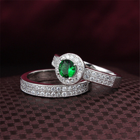 Jewelry factory outlet gold wedding ring titanium couple rings with Bule green clear Red Colors CZ Diamond
