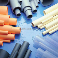 Various colors orange grey PVC Drainage Pipes