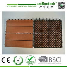 wpc interlocking decking tiles/ wood plastic composite deck board / WPC factory in China