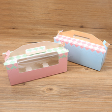 Paper Box For Cupcake/Cake Box/Cupcake Box With Clear Plastic Pvc Window