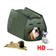 assembled helmet memory foam dogs' bed pet cave with canvas