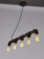 Manufacturer's Premium Industrial Pendant Light Iron Water Pipe Ceiling Light Loft Coffee Hanging Lamp