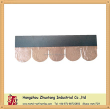 Copper bitumen roofing sheet /Fish scale Asphalt Roofing Shingles