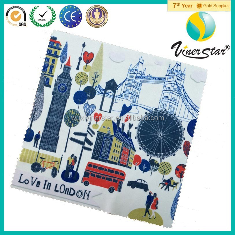 Manufacturer Supply Vivid Color Customized Size Microfiber Cleaning Cloth Spectacle Wiper with Logo