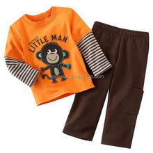 autumn long sleeve fashion kid sets clothing