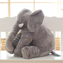 60cm wholesale china PlushToy Manufacturer Elephant Playmate Calm Stuffed Animal Shape Pillow Elephant Plush Toy