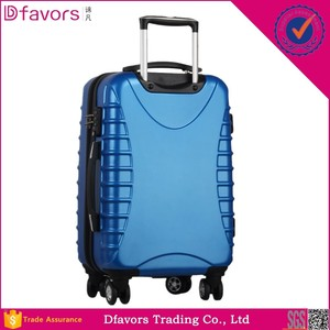 Manufacture price 2014 abs pc hard shell with 600d suitcases 17 inches laptop  luggage stripe canvas 18ce97b58f