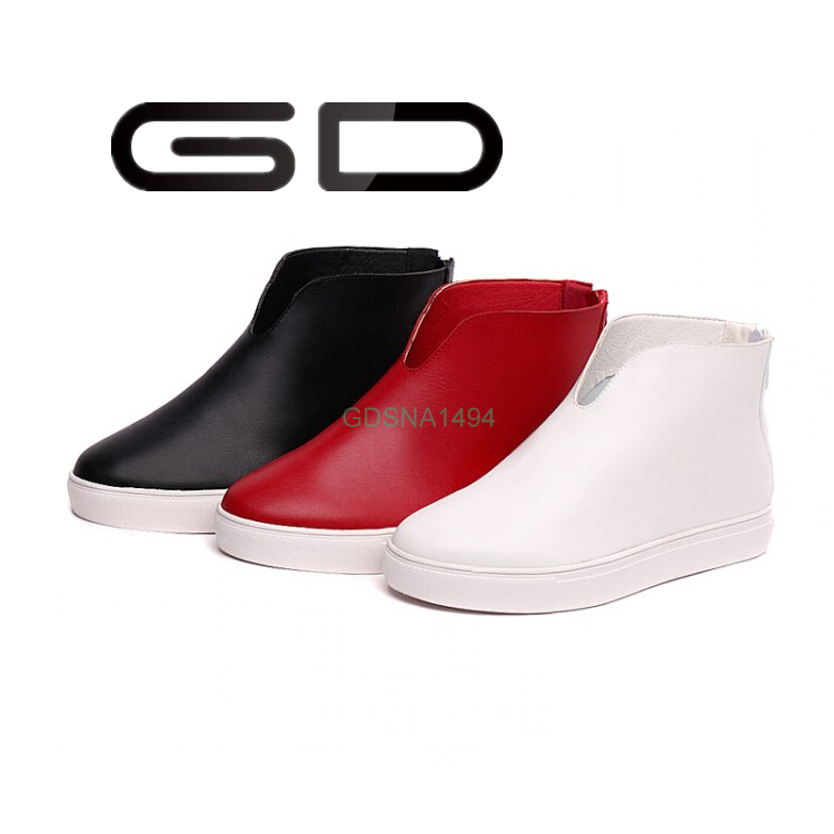 GD OEM your own brand back zipper flat loafer shoe