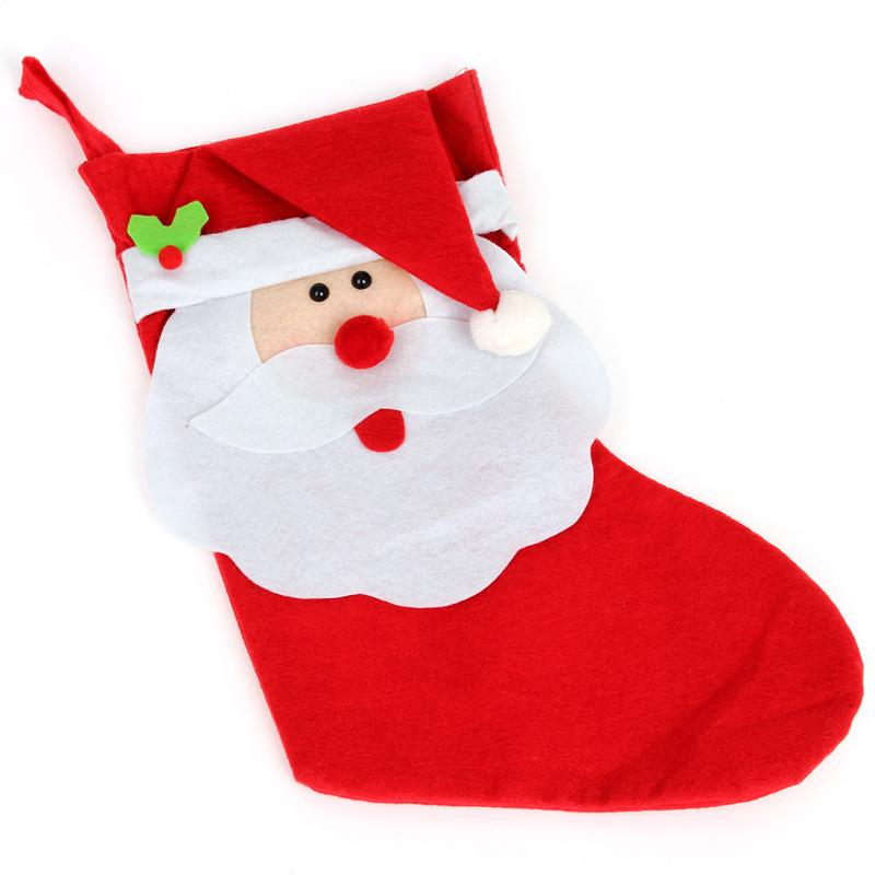 gift bags nonwoven santa claus gift bags socks shape cloth material