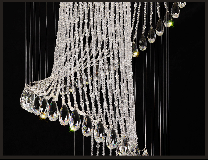 luxurious spiral crystal chandelier light
