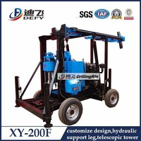 Bore well drilling truck 200m depth hand water well drilling equipment