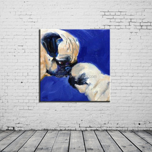 dogs family naturalism photo oil painting canvas abstract art oil painting handmade for kids room home bedroom decorating