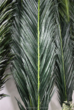 uv resistance wind proof durable artificial shiny palm tree leaf