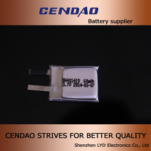 3.7V 60mah lipo battery cell 401419 li-polymer battery for E-Ink Watch Concept 3.7 lipo battery