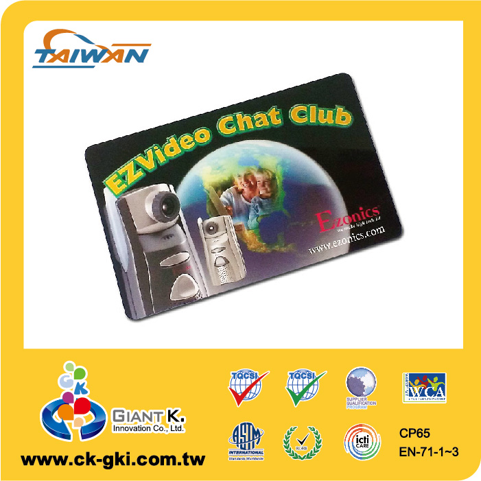 Customized pvc blank loyalty card with barcode
