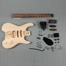 Headless Electric Guitar Kit with Ash Body GK SHS 11