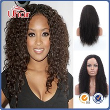 China wholesale unprocessed brazilian virgin human hair 180% density full lace wig kinky curly full lace wigs in london