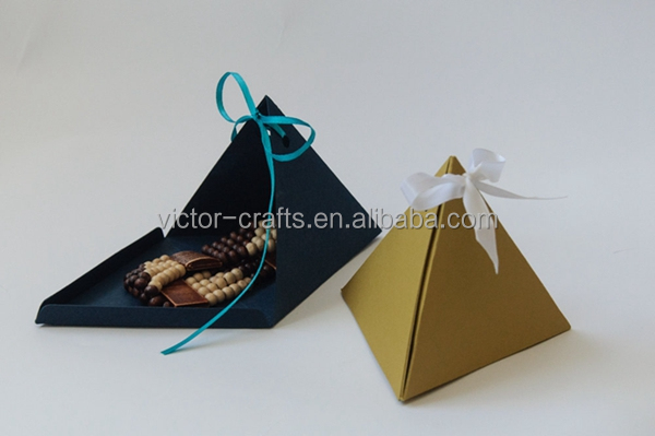 Triangle Pyramid Gift Boxes Custom Handmade Geometric color paper box