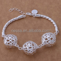 Fashion silver bracelet charm bracelet tattoo designs NSBR-25692