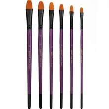 6Pcs/set Nylon Hair Watercolor Paint Brushes Set 2018 New Product Acrylic Painting Brush Art Supplies