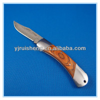 High Quality Western Custom Classic wood handle folding Damascus knife