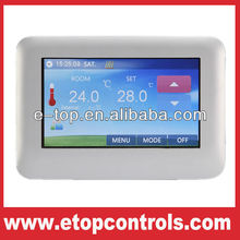 Color touch screen LCD heating room thermostat