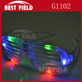 4pcs color LED flashing shutter glasses