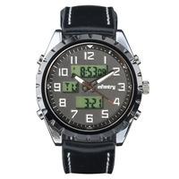 INFANTRY Men's Black Digital Quartz Wrist Watch Chronograph Analog Pilot Watch