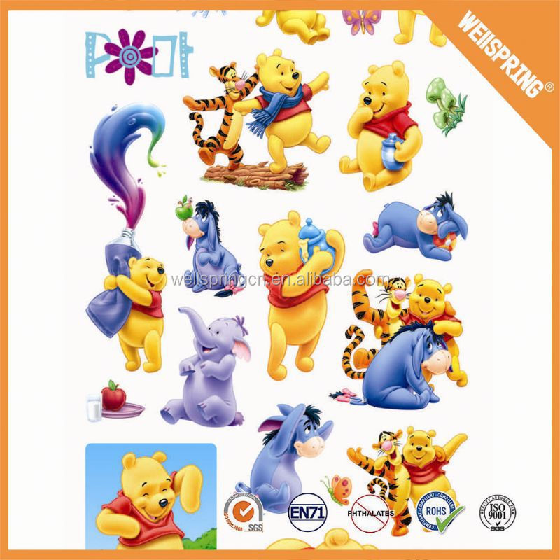 Decorative appealing kids puffy stickers and sponge sticker
