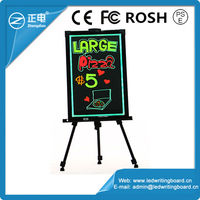 Best selling products in America 2015 advertising led diy fluorescent drawing board with 3mm thickness tempered glass panel