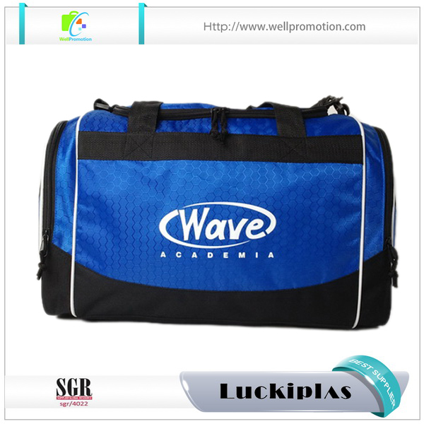 Custom logo high quality Jacquard sports gym duffle bag with shoe compartment