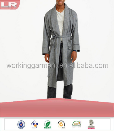Cheap OEM Winter Soft Cotton Flannel Men's Robe Leisure Wear