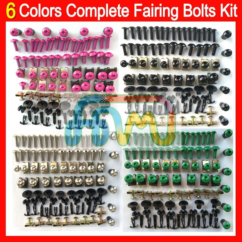 6 Colors Fairing bolts full screw kit For HONDA CBR600RR CBR900RR CBR1000RR VFR800RR Complete Body Nuts Black bolt screws set