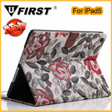 Hot sales leather case for ipad5.high quality cover case for ipad5