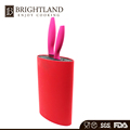 Hot Sale Red Color Oval Knife Set Block