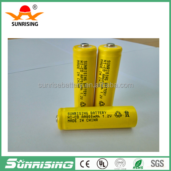 1.2v NI-CD AA800mAh rechargeable battery/nicd battery bateria solar aa battery
