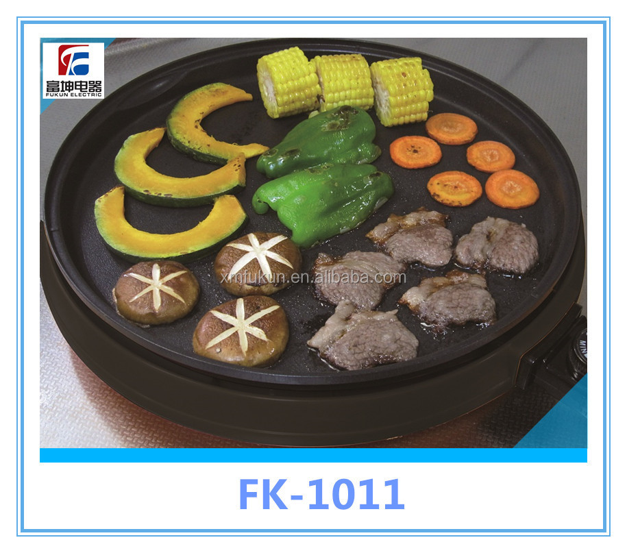 Round electric frying pan with glass lid