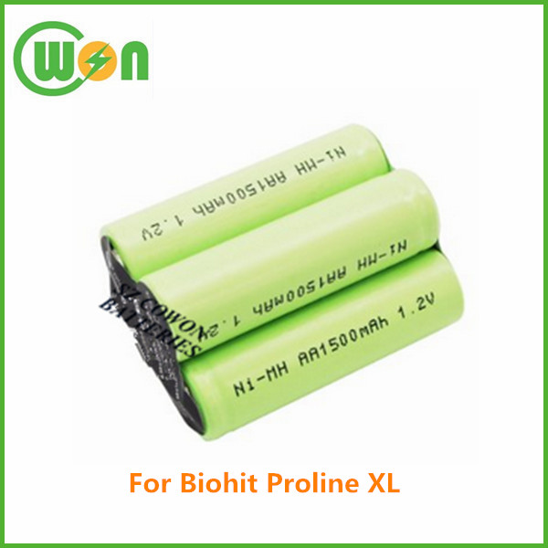 medical replacement battery pack nimh rechargeable 4.8V 1500mAh battery for Biohit Proline XL 712898.01, SA 712898