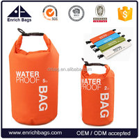 Enrich PVC tarpaulin waterproof swimming dry bag, custom logo and design
