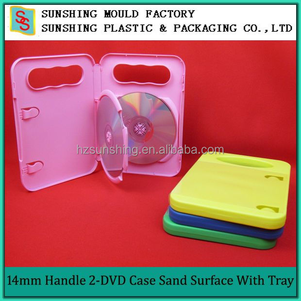 Pink Color Promotion Plastic CD Bag DVD Case