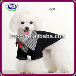 Top Sale black color red bow dog training suit