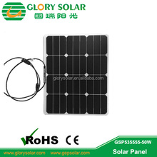 Light Weight And Thin Sun Power Solar Panel Flexible 20W to 135W
