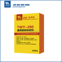 Exterior wall ceramic tile adhesive for waterproofing