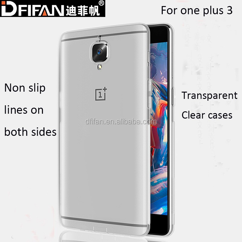 Phone Accessories New Coming Transparent TPU Gel Cell Phone Skin Cover For OnePlus 3 , For OnePlus 3 case