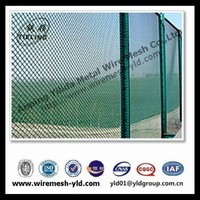 pvc coated diamond expanded metal sheet of fence for sports backgrand
