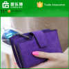 Korean student card multi hasp retro matte Zipper Wallet