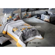 New Arrival Yellow Sport Motorcycle Dashing Quilt Comforter Bedding Duvet
