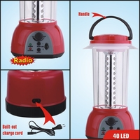rechargeable led camping lantern with radio