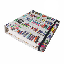 Tabbed notebook printed spiral notebook with colored index tabs divider